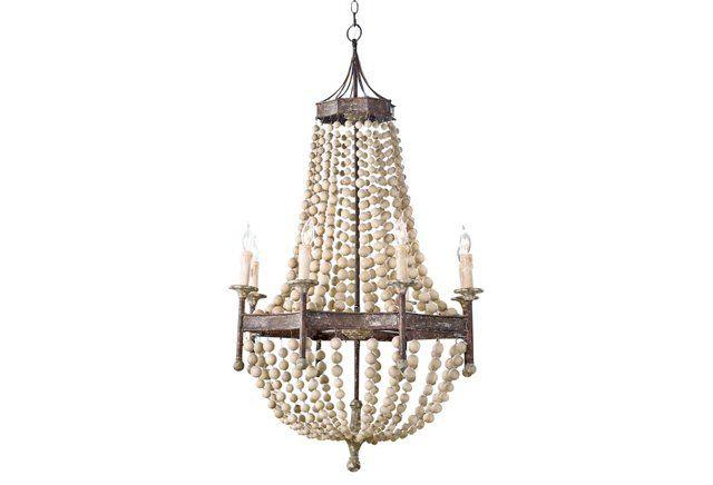 Wood Beaded Light Fixture: 1000+ Ideas About Wood Bead Chandelier On Pinterest