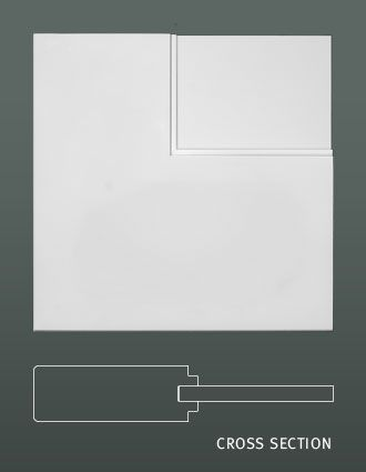 Interior Door Style - One Step Sticking with Flat Panel