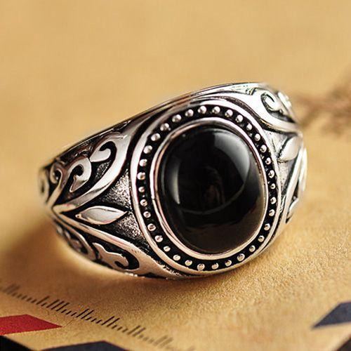 best 20 mens onyx rings ideas on pinterest silver man. Black Bedroom Furniture Sets. Home Design Ideas