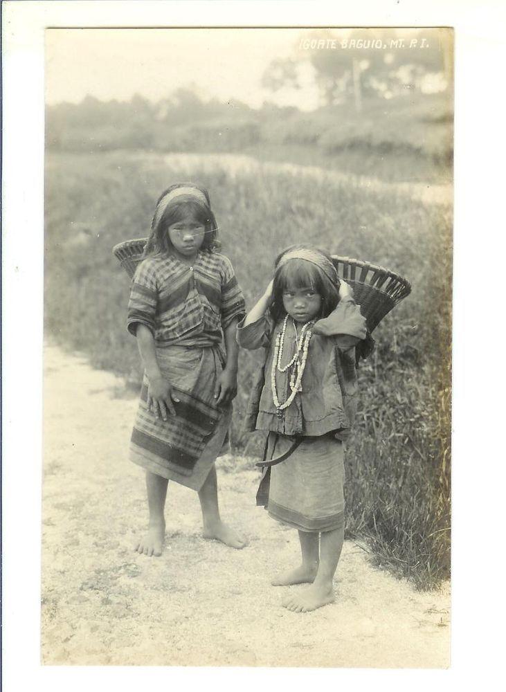Igorote Girls, Baguio, Philippine Islands.