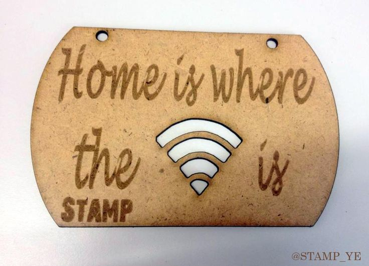 "Another one of our latest #Plaques with the caption ""Home is where the Wifi is"" - #Quirky, #Fun and Open to #customisation!"