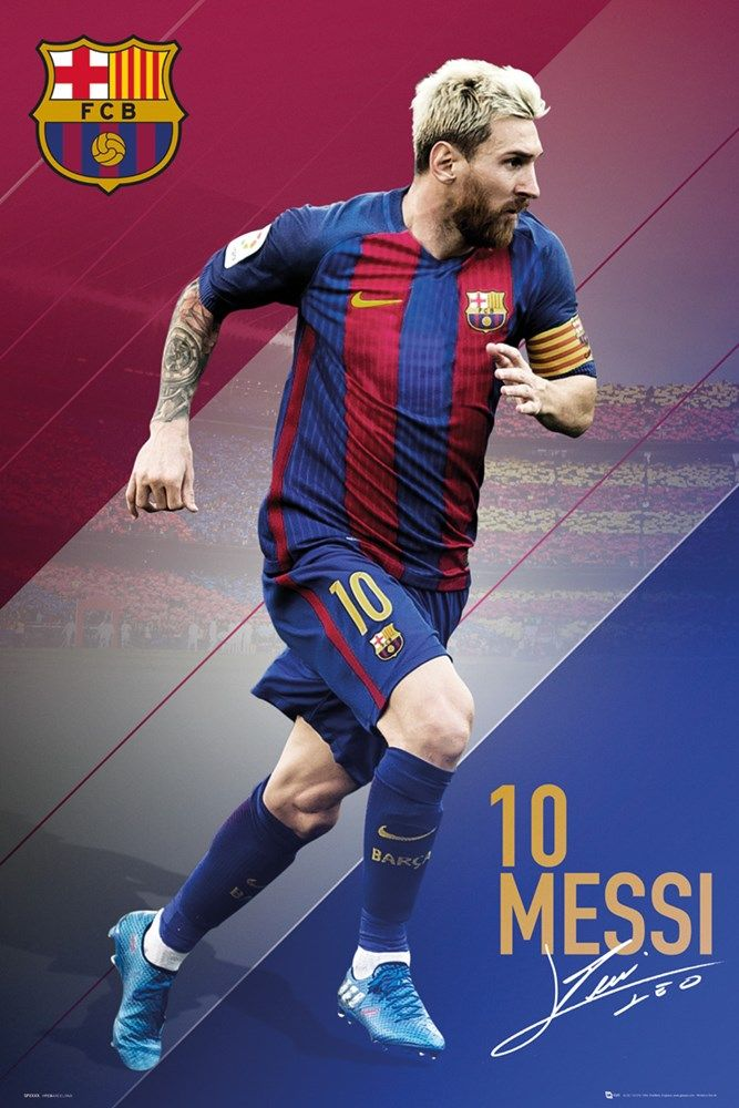 Barcelona FC Lionel Messi 16/17 Maxi Poster | UK Store | Oneposter.com