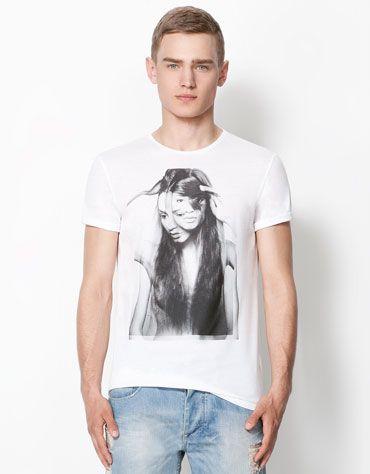 Bershka Romania - Girl print T-shirt