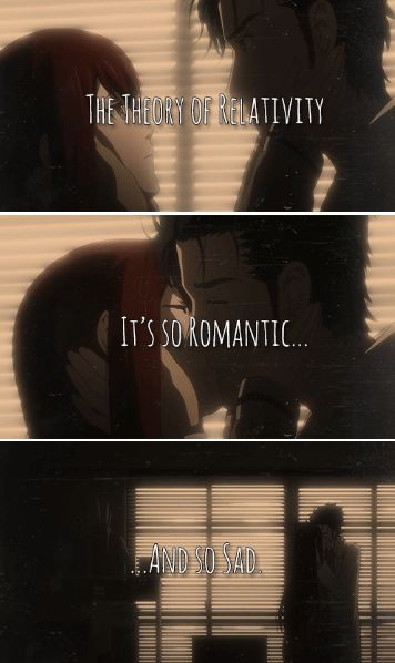 Steins;Gate - Kurisu and Okabe - This show made me cry :'( and I DONT CRY EVER!!! lol