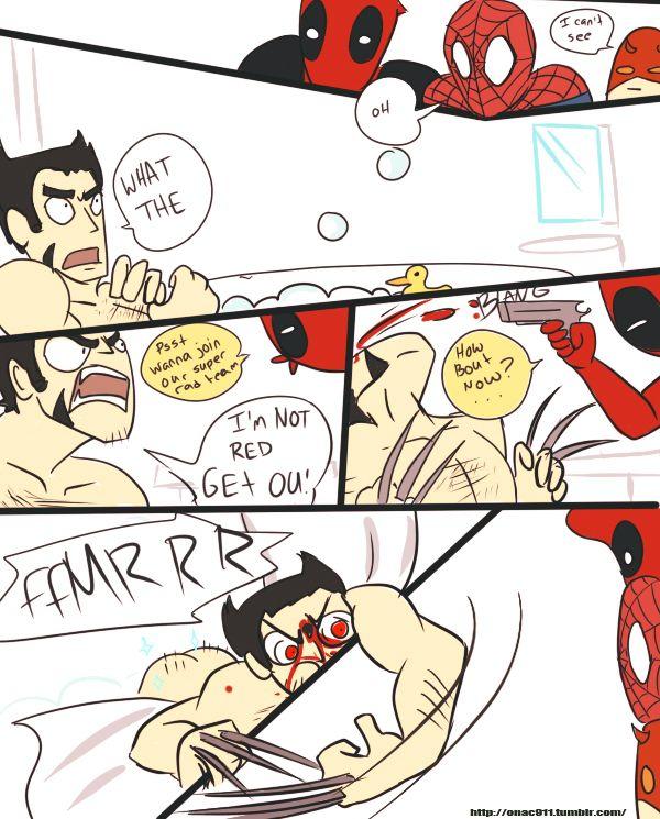 Marvel+Red+Team | deadpool myart daredevil marvel team red spurruman
