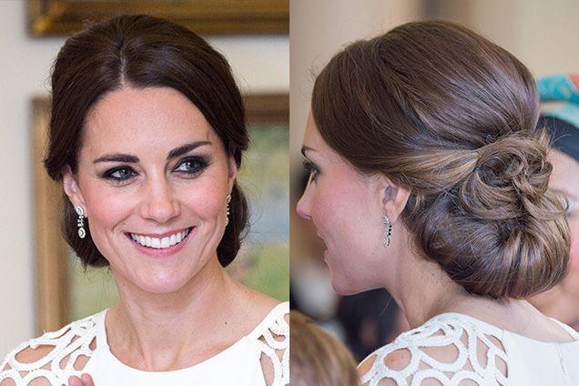 Kate Middleton's Elegant Rolled Chignon| allure.com