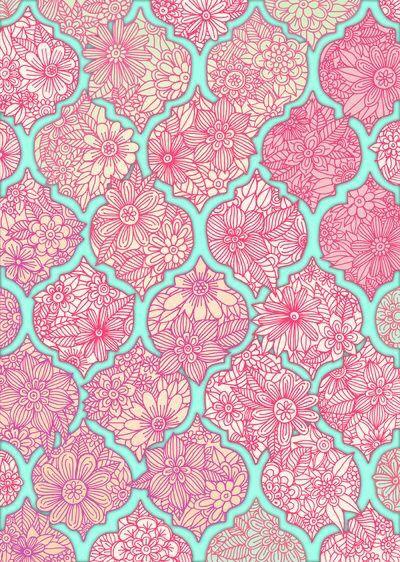 pink blue flower paisley wallpaper pinterest flower