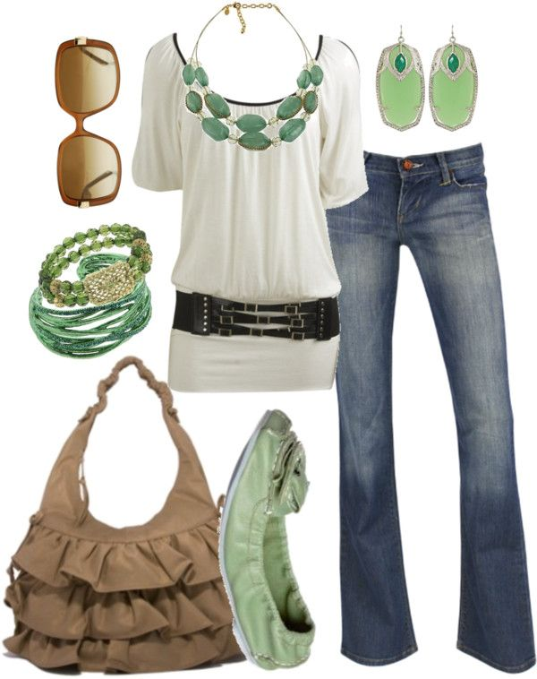 Casual Outfit: Outfits, Casual Outfit, Fashion, Style, Clothes, Dream Closet, Green, Belt