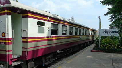 The train from Bangkok arrived at Aranyaprathet