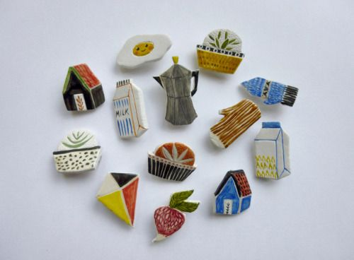 """artcoven: """" new ceramic brooches in the shop! """""""