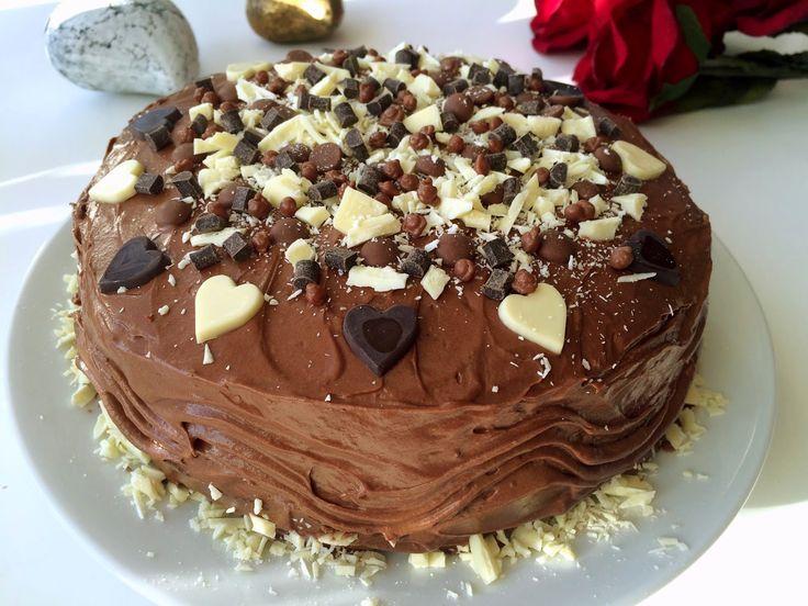 Glutenfria godsaker: Glutenfri chokladtårta med hallon