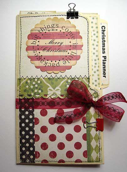 ** File Folder Christmas Planner Mini Album @splitcoaststampers