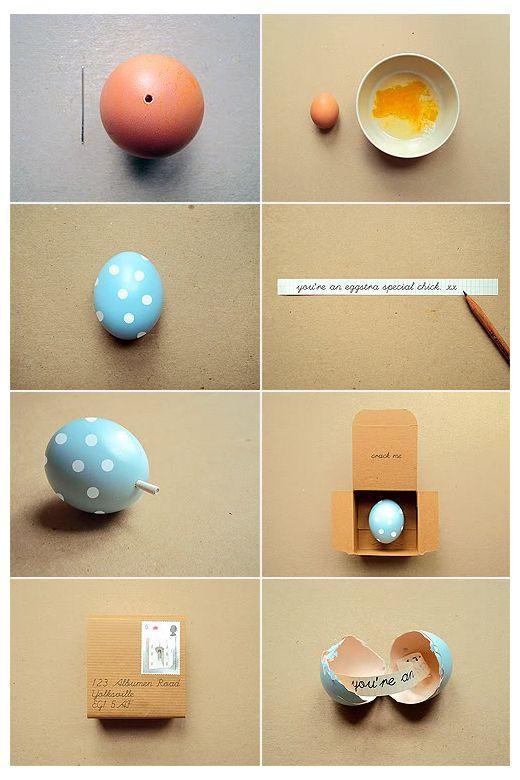 Faire-part de naissance original: Joyeuses Pâques…