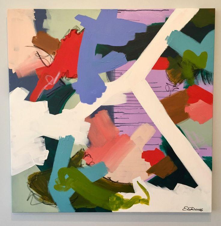36x36, mixed media on canvas, By Eleanor Scott Davis, eleanorscotdavis.com
