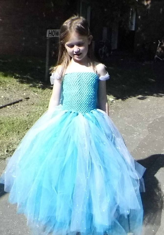 Homemade Elsa dress