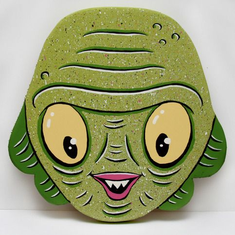 """Pond Scum"" original painted woodcut · jellykoe: art and toys · Online Store Powered by Storenvy"