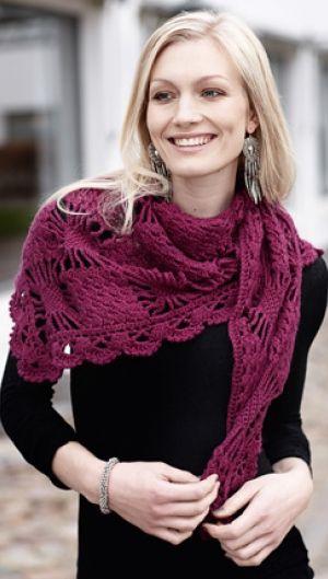 Eksklusivt, hæklet sjal | Familie Journal
