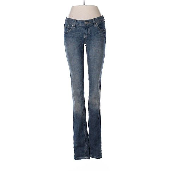 Mossimo Supply Co. Jeans ($9.99) ❤ liked on Polyvore featuring jeans, blue, blue jeans and mossimo supply co jeans