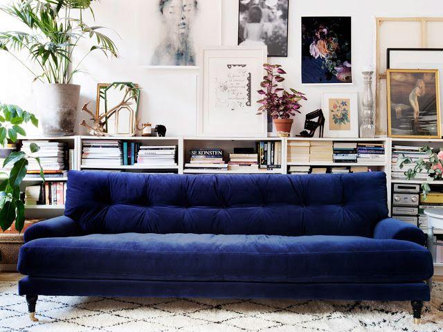 ATELIER RUE VERTE , le blog: Collectif Project Inside / Du bleu nuit pour un sofa /