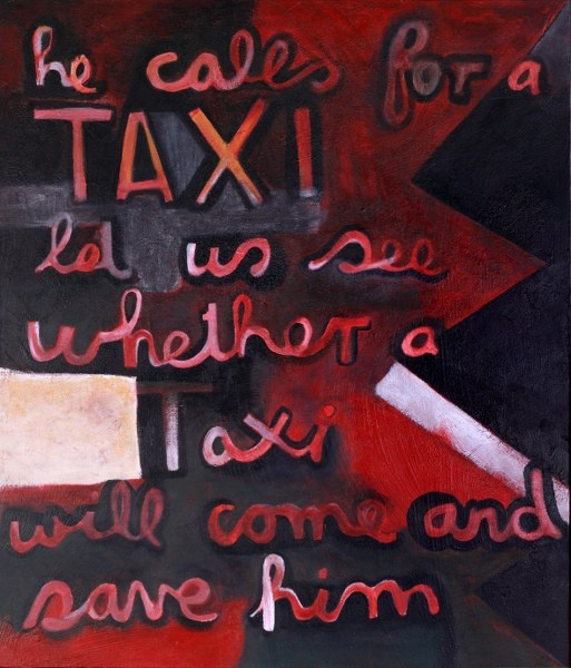 With a simple verbal modification Milton has thrown a very modern light on Colin McCahon's original painting.  Follow the link for full details and magnified images. Original - SOLD   Limited Edition Print  - $165