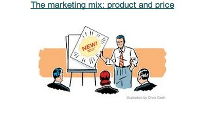 The marketing mix: product and price