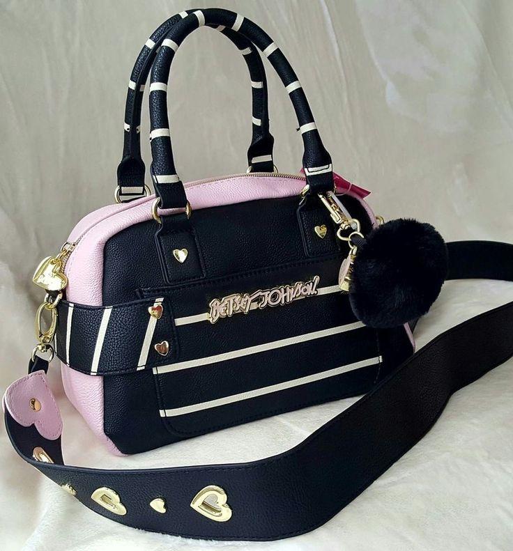 BETSEY JOHNSON GUITAR STRAP MINI PURSE IN BLACK/PINK NWT , MSRP $98   Clothing, Shoes & Accessories, Women's Handbags & Bags, Handbags & Purses   eBay!