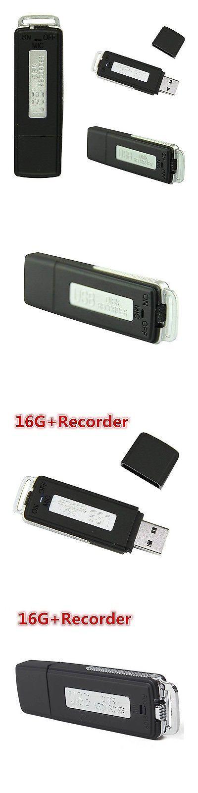 Voice Recorders Dictaphones: Ebotrade Usb Hidden Spy Pen Drive Disk Digital Audio Voice Recorder 16Gb BUY IT NOW ONLY: $300.0