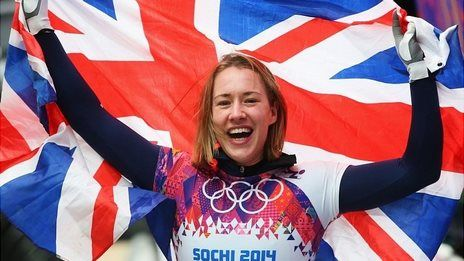 Lizzy Yarnold wins Olympic Gold in Skeleton #Sochi2014
