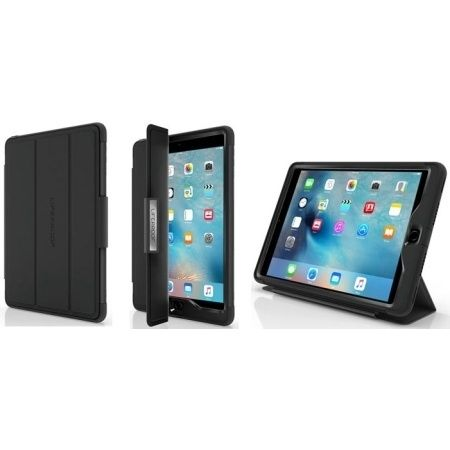 LifeProof - nuud Portfolio Cover/Stand for iPad Air 2 Black