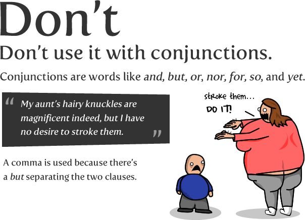 "How to use a semi-colon ""My aunt also had hairy knuckles; she loved to wash and comb them."""