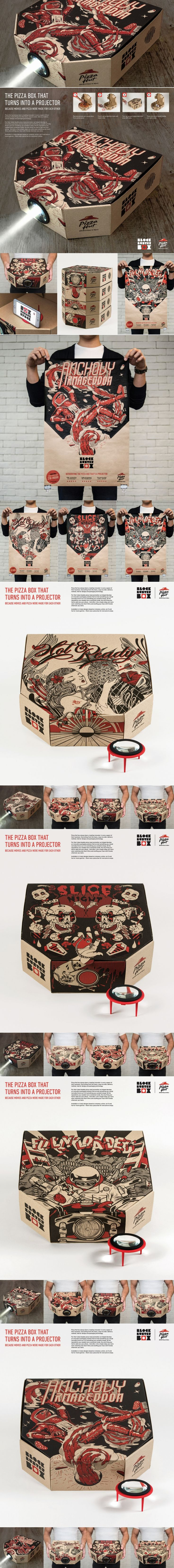 Pizza Hut Blockbuster Box — The Dieline | Packaging & Branding Design & Innovation News