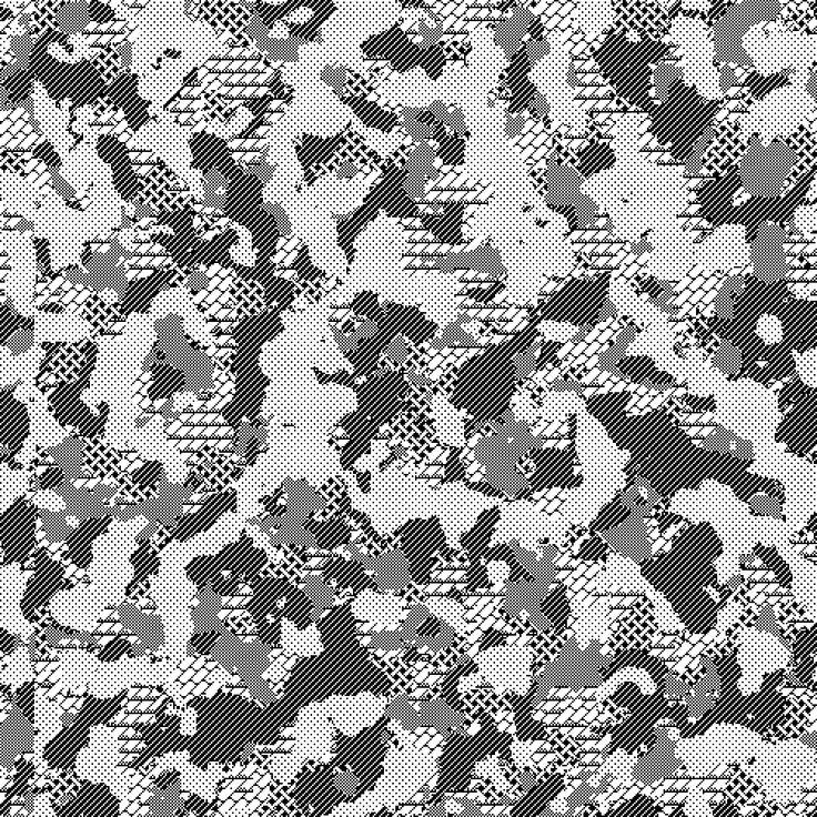 Camouflage Pattern Rendered with MacPaint Patterns, 4