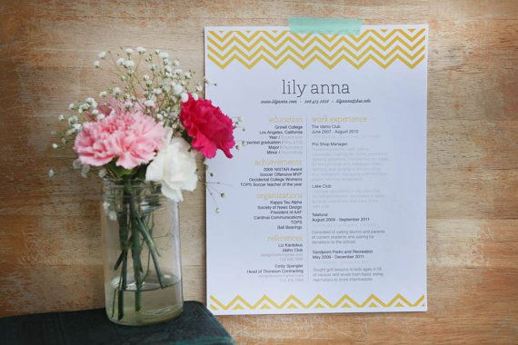 customized resume design template / the lily by 23and9Creative, $60.00