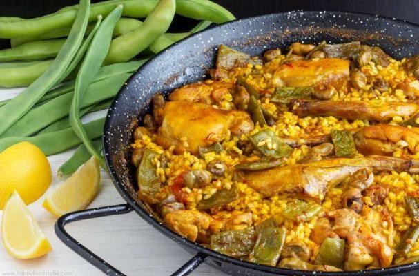 traditional paella valenciana valenciana rice valenciana spanish ...