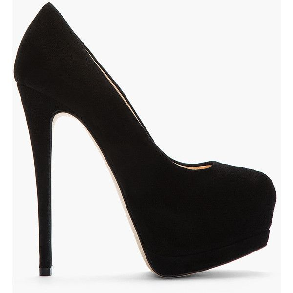 GIUSEPPE ZANOTTI Black Suede Eva Pumps by April Golightly, via Polyvore