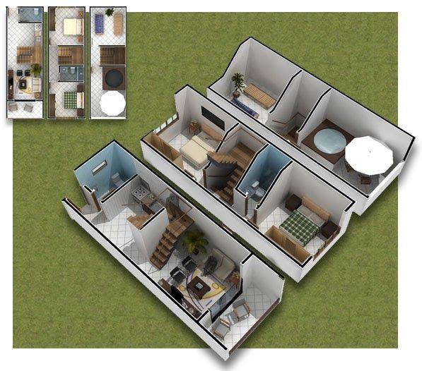 planos de casas 3 pisos