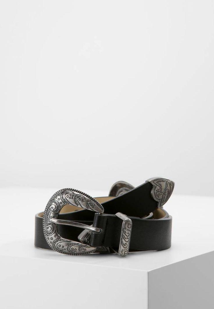 Missguided. STUD DOUBLE BUCKLE WESTERN - Cintura - black. Composizione:100% Poliuretano. Materiale:fintapelle. Lunghezza:90 cm nella taglia One Size. Chiusura:Fibbia. Larghezza:2.8 cm nella taglia One Size