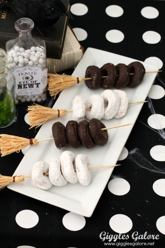 Broomstick Party Skewers - these would look great on the Honeydukes table