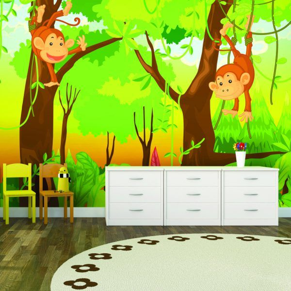 10 best images about jungle bedroom ideas on pinterest for Childrens mural wallpaper