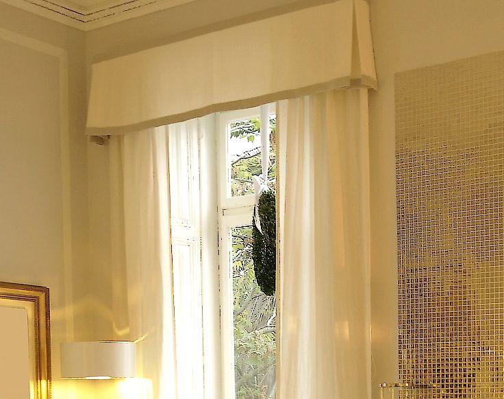 White Box Pleat Window Valances Curtain Styles