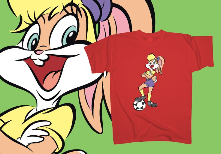 The #football season is about to begin and #Lola is ready to make the kick-off. Let your sporting spirit take control over this €15 #tshirt at http://www.toonshirts.com/products/looney-tunes/137-lola-bunny-kickoff