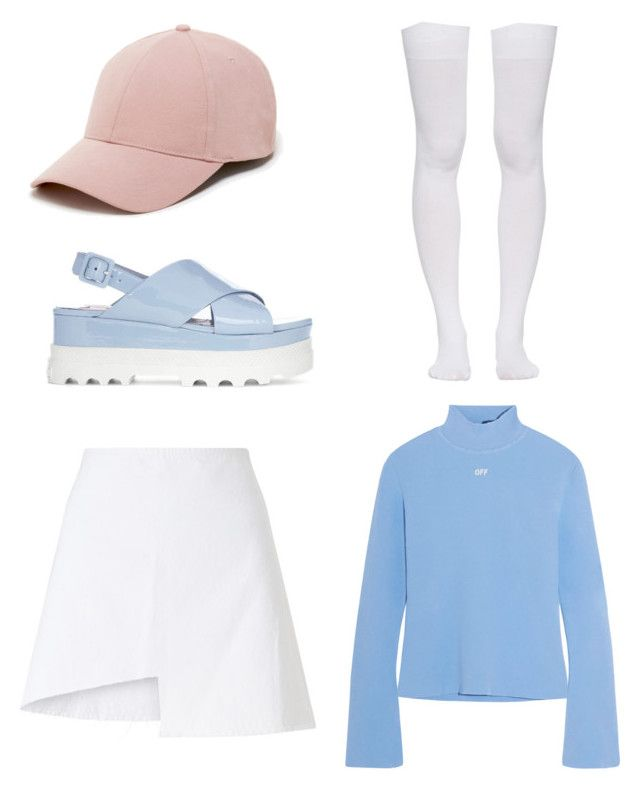 """Untitled #14"" by shanisiavniel on Polyvore featuring Off-White, Marieyat, WÃ¥ven, Miu Miu and Sole Society"