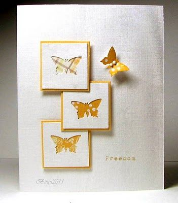 Love the simplicity of this card. Think this would work well with my memory box butterfly dies.