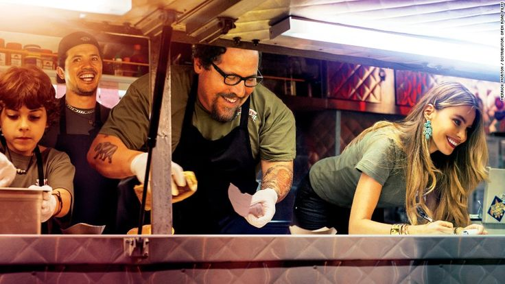 """Secret to success in the food truck biz? Have Sofia Vergara (right) serve up the goods. With his 2014 film """"Chef,"""" Jon Favreau (center) tracks a fictional food truck and its quick-tempered chef."""