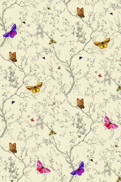 Timorous Beasties Butterflies Wallpaper Ideas  Designs - Living Room  Bedroom (houseandgarden.co.uk)
