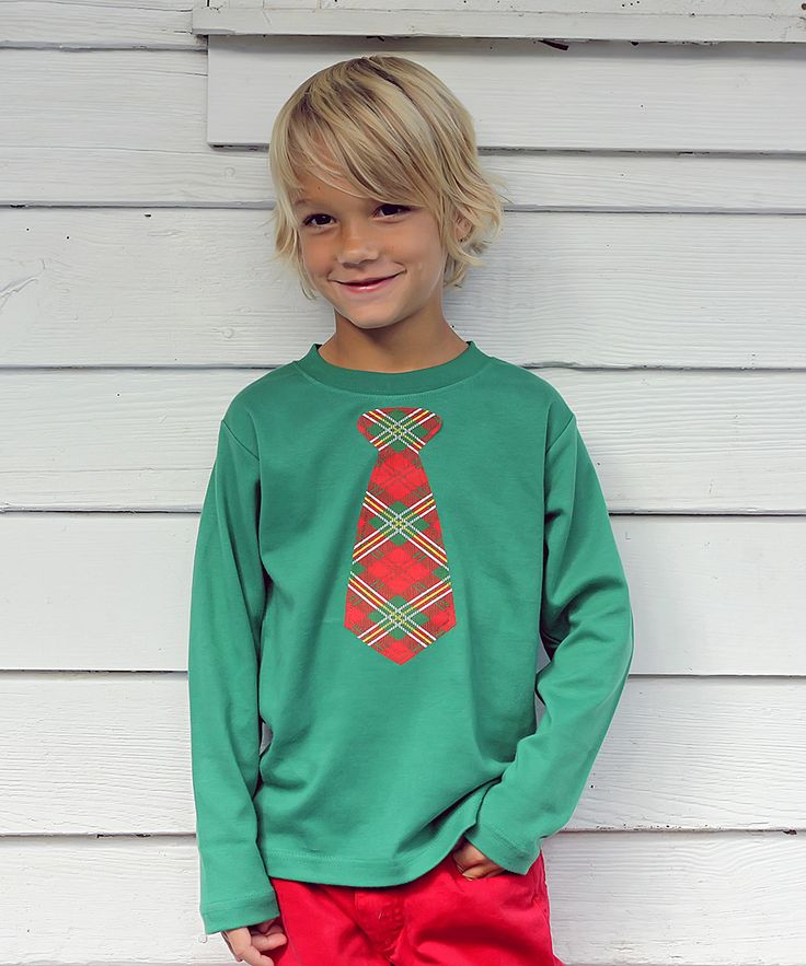 Green Plaid Tie Tee - Infant, Toddler & Girls | Daily deals for moms, babies and kids
