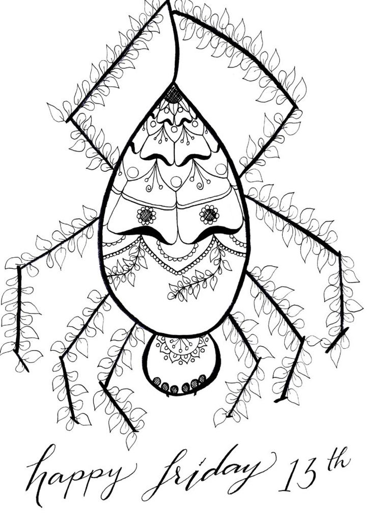 Friday The 13th Coloring Pages