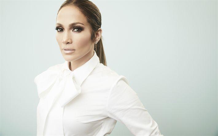 Download wallpapers 4k Jennifer Lopez, 2017, american singer, J-Lo, Hollywood, superstars, beautiful woman