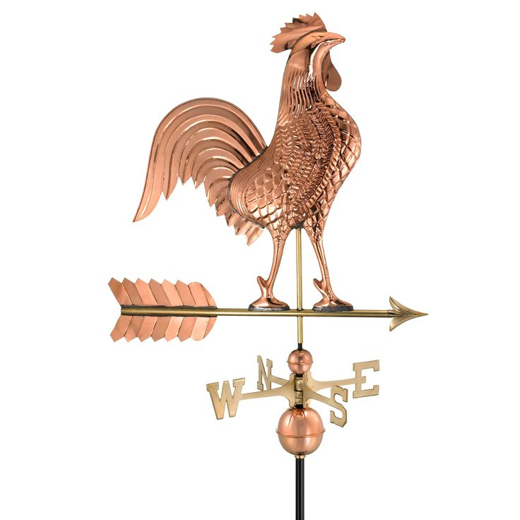 Best Good Directions Medium Rooster Weathervane 515P Copper 400 x 300