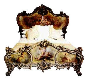 The Rococo Cherub is shown here in hardwood (e.g, mahogany)  and artist painted and gilded.